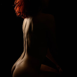 Bodyscape on fire by André Odermatt - Nudes & Boudoir Artistic Nude ( red hair, beauty, bodyscape, topmodel, nude )