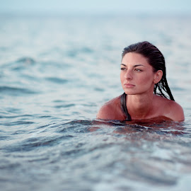 mermaid by Carnevale Tony - People Portraits of Women ( water, girl, colors, sunset, sea,  )