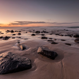Exposed by Steve Badger - Landscapes Beaches ( nature, sunset, beach, fingal )
