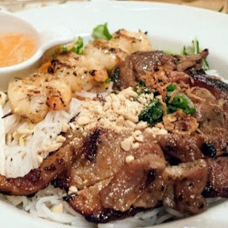 Grilled Pork with Vermicelli and Fresh Greens