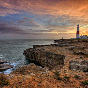 Portland ... by Pawel Tomaszewicz - Landscapes Waterscapes ( clouds, uk, cliffs, portland, bill, hdr, wielka, dri, england, great, sky, sunset, composition, sunrise, anglia, brytania, britain, dorset )
