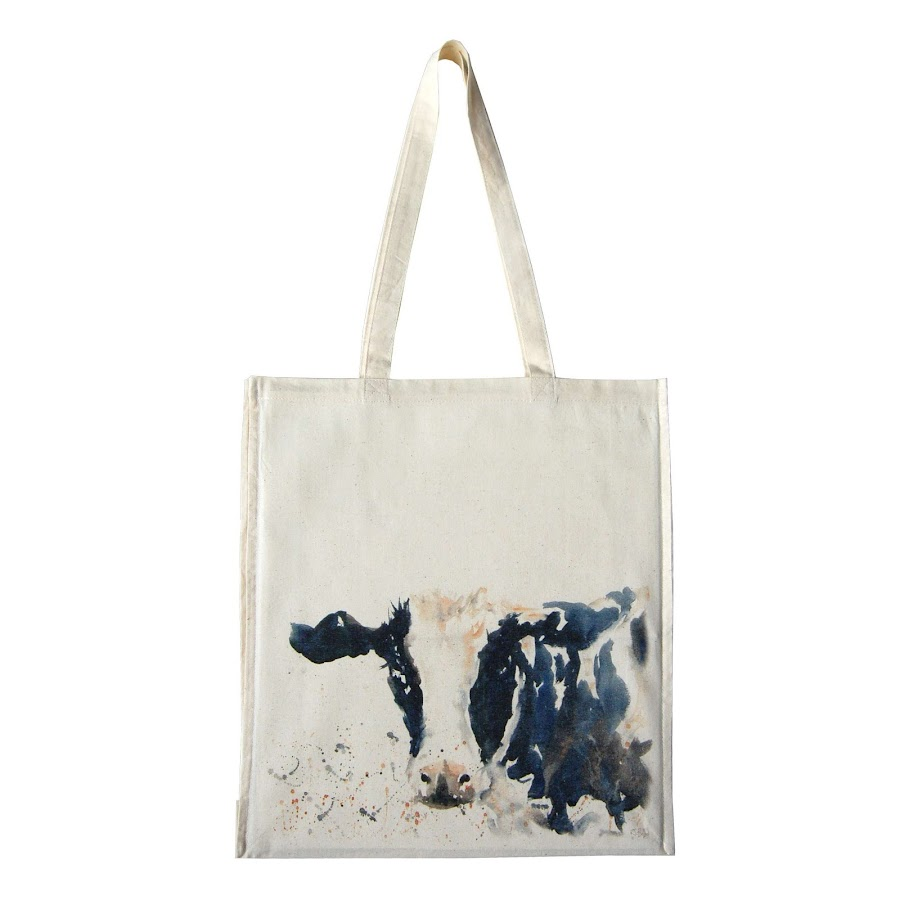 Cow bag tote shopper shopping bags