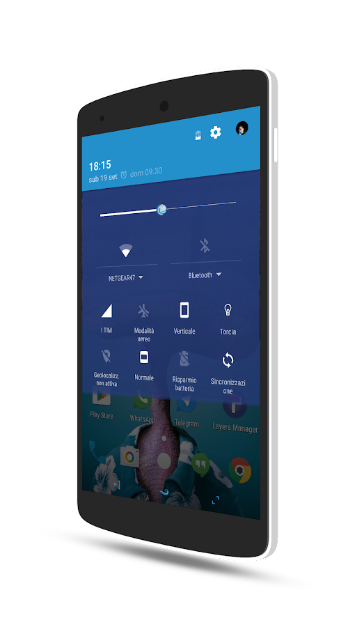 OceanSapphire - Substratum Screenshot 0