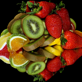 fruits with candys by LADOCKi Elvira - Food & Drink Fruits & Vegetables ( candyys, fruits )