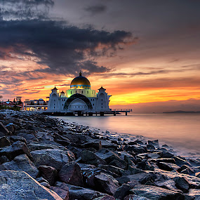 Melaka Floating Mosque by Nicholas Leong - Buildings & Architecture Places of Worship