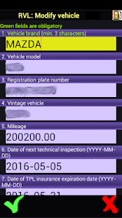 Refueling Vehicle Logger - screenshot