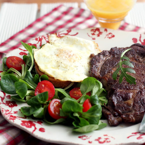 Rib Steak and Eggs