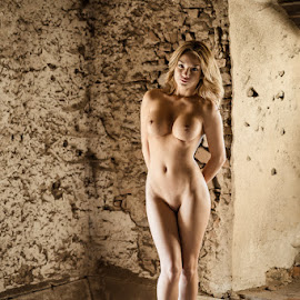 Woman / Old Barn 3 by Mika Leinonen - Nudes & Boudoir Artistic Nude ( pose, nude, barn, beauty )