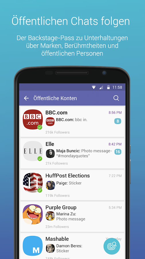 Viber Messenger – Screenshot
