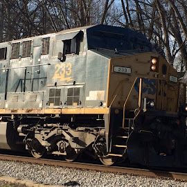 CSX Train in Athens, GA by Phil Edwards - Transportation Trains