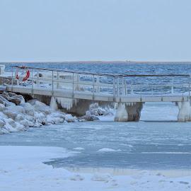 Winter by Henrik  Krogsgaard - Landscapes Weather ( frosen, winter, snow, wather )