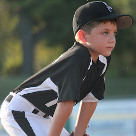 Put Your Game Face On by Leah Hartley - Novices Only Sports ( baseball, boys, sports, summer, little, kids, league, KidsOfSummer )