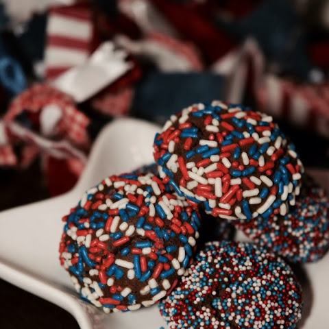 4th of July Chocolate Sprinkle Cookies