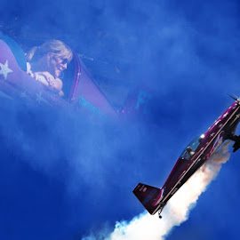 Airshow Angel by Ken Wade - Transportation Airplanes ( double exposure, airplane, airshow )