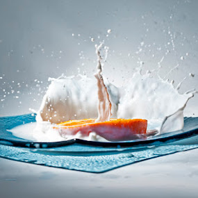 Orange Art 2 by Ivan Vukelic - Artistic Objects Other Objects ( orange, splash, vukelic, ivo, milk, vuk )
