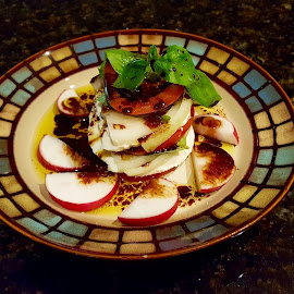 Caprese Salad by Michael Villecco - Food & Drink Plated Food ( salad, tomato, caprese, mozzarella, basil, onion,  )