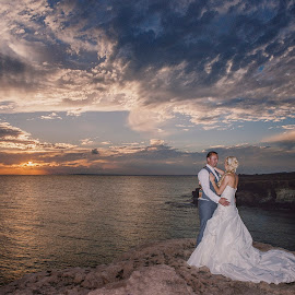 The skies the limit by Mandy Christodoulou - Wedding Bride & Groom ( cyprus sunsets, cyprus bride and groom, weddings in cyprus, cyprus wedding, cyprus wedding photographers )