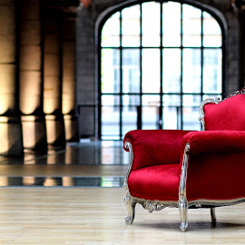 red armchair by Dogu Cetin - Artistic Objects Furniture ( armchair, chair, red furniture, red armchair, furniture )
