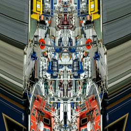 Falmouth harbour, UK by Barry Simmons - Abstract Patterns