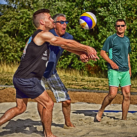 It's Mine ! No Mine ! by Marco Bertamé - Sports & Fitness Other Sports ( defense, two, ball, trhee, beach volley, action, summer, match, man )