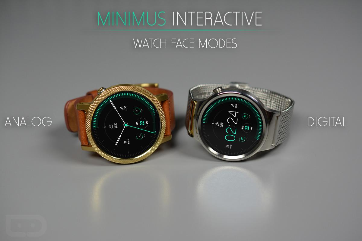 Minimus Interactive Watch Face Screenshot 2