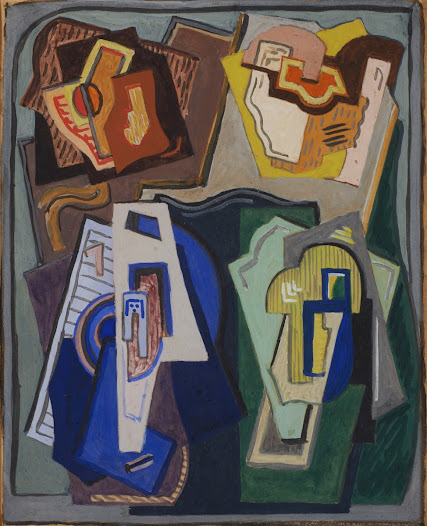 Irish newspapers and periodicals initially responded to Mainie Jellett's abstract art with horror. Æ (George Russell) writing in The Irish Statesman in 1923 described Jellett as 'a late victim to Cubism in some sub-section of this artistic malaria'.