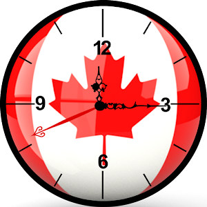 Canada Clock Live Wallpaper