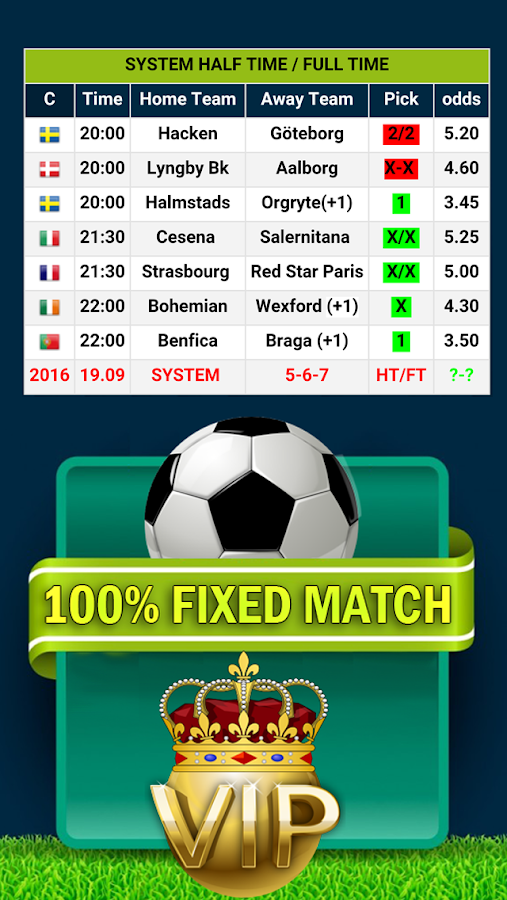%100 FİXED MATCH Screenshot 1