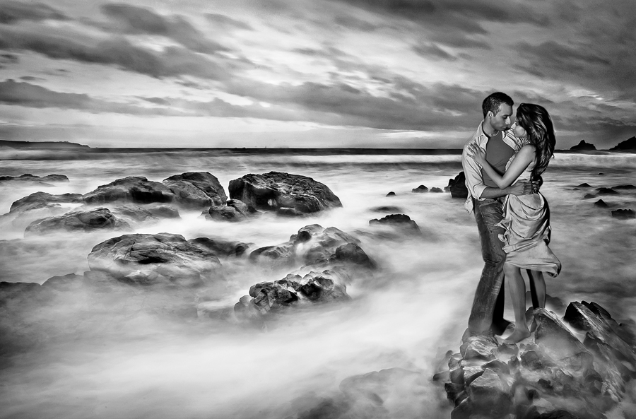 by Jay Hoque - Wedding Reception ( black and white, seascape portrait, seascape, post wedding )