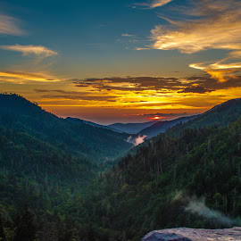 Sunset in the Smokies  by Jen Osborne - Novices Only Landscapes