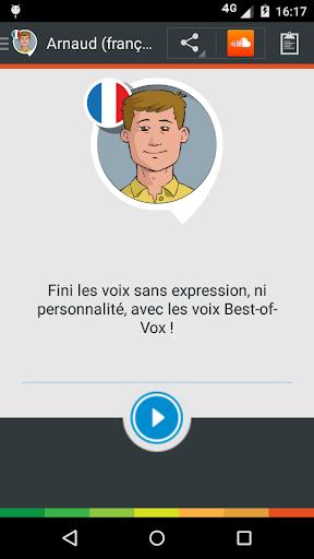 Arnaud voice (French) - screenshot