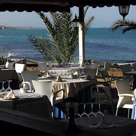 A Restaurant with a view by Helen Roberts - City,  Street & Park  Neighborhoods
