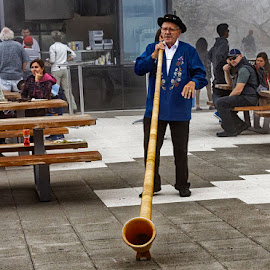 Swiss entertainment by Radu Eftimie - People Musicians & Entertainers ( swiss, music, man, alps )