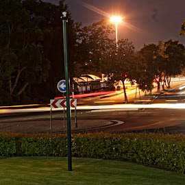 Traffic Circle by Eric Klein - Abstract Light Painting ( abstract, light painting, lightwork,  )