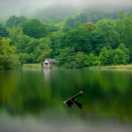 Below the mist by Graham Kidd - Landscapes Waterscapes ( water, nature, green, trees, landscape, longexposure )