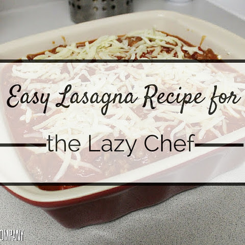 Lasagna for the Lazy