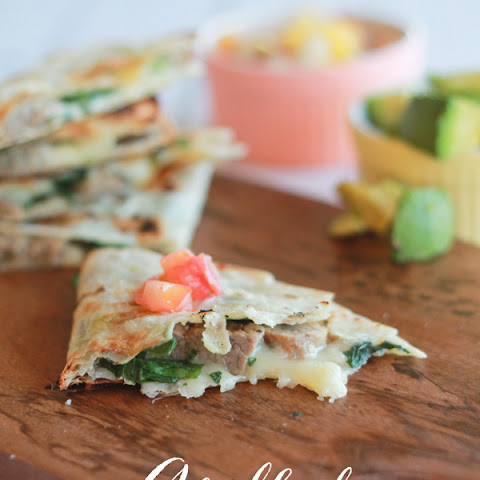 Steak and Spinach Quesadillas