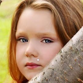 Peek-A-Boo Branch by Cheryl Korotky - Babies & Children Child Portraits