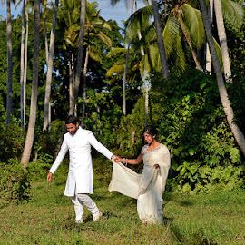 Forest of Love by Andrew Morgan - Wedding Bride & Groom ( zanzibar, wedding, forest, bride, groom, palmtree )