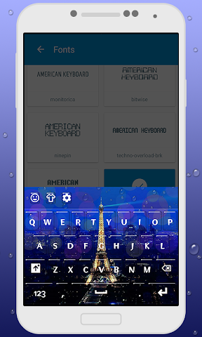 android Paris Keyboard Theme Screenshot 1