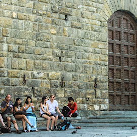 Ice Cream Stop by Emin Can - People Street & Candids ( street photos, #florence, #icecream, #eating, #people, italy )