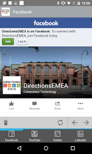 Directions EMEA 2015 - screenshot