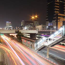 Jembatan Slipi Jaya by Arie Wibowo - City,  Street & Park  Night