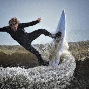 surfer by Prentiss Findlay - Sports & Fitness Surfing ( surfing, wavesurfer, surfer, catching waves, surfer and waves )