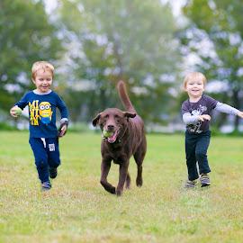 Team by Elena Vershinina - Babies & Children Children Candids ( candidchildhood, banda, running team, fun, team, toddlers, lab,  )