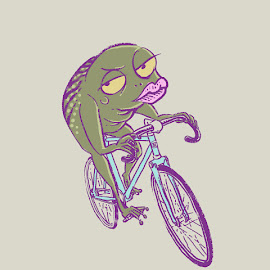 frog cycling by August Rats - Illustration Animals ( cycling, frogs, bicycle, animal )
