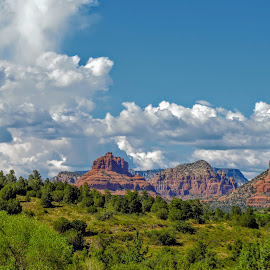 Welcome to Sedona  by Michael Pruitt - Landscapes Travel ( mountains, bell rock, red rocks )