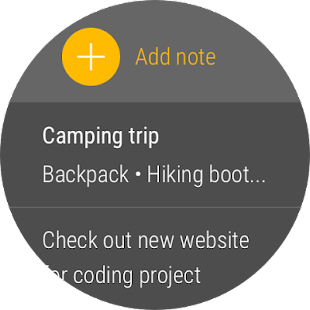 Google Keep Screenshot