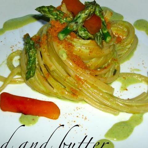 Linguine With Asparagus Cream And Bottarga