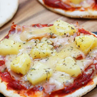 Mini Ham and Pineapple Pizza